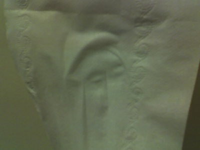 Image of a Chinese Man Found on a Tissue