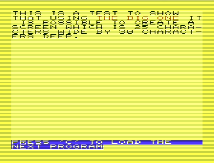 40 Columns in Basic on the Commodore VIC-20